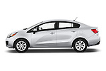 Car Driver side profile view of a 2015 KIA Rio LX AT 4 Door Sedan 2WD Side View
