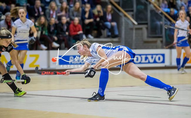 ROTTERDAM  - NK Zaalhockey  finale A'dam MB1-Kampong B1 (3-4). Kampong Nederlands Kampioen -16.   Tess Zweers (Kampong.  COPYRIGHT KOEN SUYK
