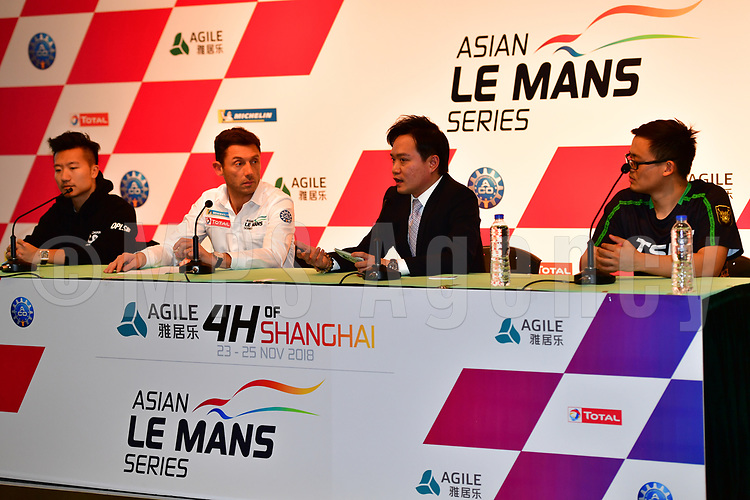DAVID CHENG (CHN) TEAM OWNER JACKIE CHAN DC RACING    CYRILLE TAESCH WAHLEN (FRA) MANAGING DIRECTOR ASIAN LE MANS SERIES    KAYSON RUAN (CHN) VICE PRESIDENT OF AGILE PROPERTY GROUP<br /> DAVID CHEN WEIAN (CHN) TIANSHI RACING