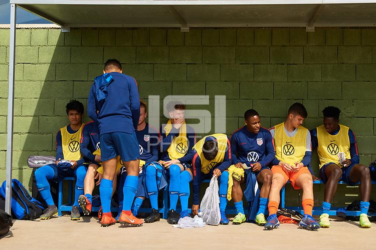 San Pedro del Pinatar, Spain - Friday March 22, 2019: The USMNT U-20 vs France at Pinatar Center.