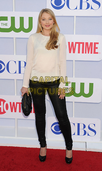 Elisabeth Harnois.CBS, CW, Showtime 2012 Summer TCA Party held at The Beverly Hilton Hotel, Beverly Hills, California, USA..July 29th, 2012.full length top black clutch bag trousers jeans white.CAP/ROT/TM.©Tony Michaels/Roth Stock/Capital Pictures