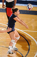 20 November 2008:  FIU defensive specialist Angelina Colon (4) returns the ball during the FIU 3-1 victory over South Alabama in the first round of the Sun Belt Conference Championship tournament at FIU Stadium in Miami, Florida.