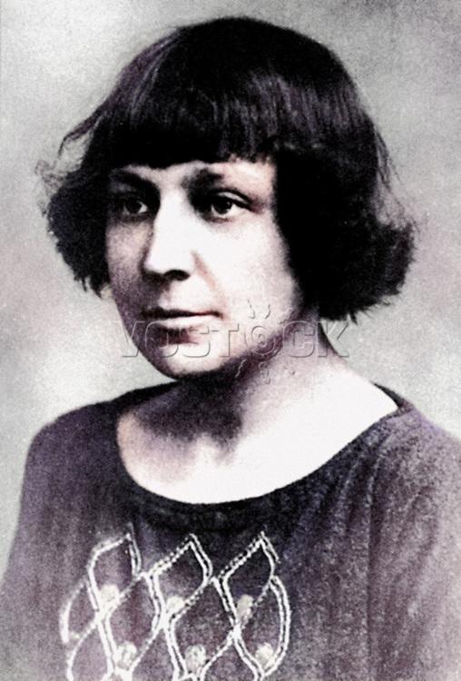 Marina Tsvetaeva (1892-1941) - russian author, writer, portrait.