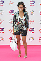 NON EXCLUSIVE PICTURE: PAUL TREADWAY / MATRIXPICTURES.CO.UK<br /> PLEASE CREDIT ALL USES<br /> <br /> WORLD RIGHTS<br /> <br /> Rachel Barrett attending the WTA Pre Wimbledon Party, at London's Kensington Roof Gardens.<br /> <br /> 20TH JUNE 2013<br /> <br /> REF: PTY 134225