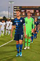 Miami, FL - Tuesday, October 15, 2019:  Djordje Mihailovic #8, Matt Freese #22 during a friendly match between the USMNT U-23 and El Salvador at FIU Soccer Stadium.