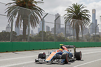 March 19, 2016: Rio Haryanto (IDN) #88 from the Manor Racing  during practise session three at the 2016 Australian Formula One Grand Prix at Albert Park, Melbourne, Australia. Photo Sydney Low