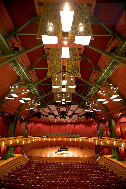Concert hall in the DeBartolo Center for the Performing Arts