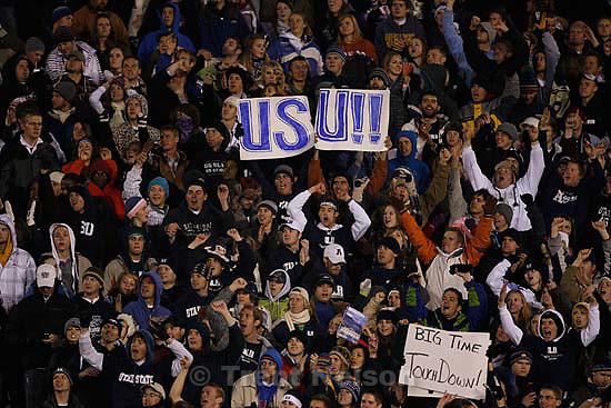 fans. Utah State vs. Boise State college football Friday, November 20 2009.
