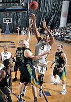 Florida International University guard-forward Dominique Ferguson (3) plays against Coastal Carolina University.  FIU won the game 64-62 on November 26, 2011 at Miami, Florida. .