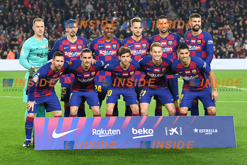 F.C. Barcelone<br /> line up <br /> formazione <br /> 07/12/2019 <br /> Barcelona - Maiorca<br /> Calcio La Liga 2019/2020 <br /> Photo Paco Largo Panoramic/insidefoto <br /> ITALY ONLY