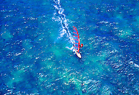 Windsurfer off Kanaha beach park, during the Windsurfing state campionship, Haiku, Island of Maui
