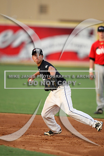 Infielder Justin Rose (1) of Riverview High School participates in the Team One Futures Game East at Roger Dean Stadium on September 25, 2010 in Jupiter, Florida..  (Copyright Mike Janes Photography)