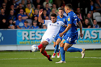 Gareth Evans of Portsmouth in action during AFC Wimbledon vs Portsmouth, Sky Bet EFL League 1 Football at the Cherry Red Records Stadium on 13th October 2018
