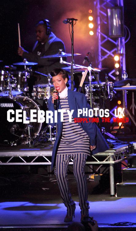 Rihanna switches on the Westfield Stratford City Christmas Lights,.. Stratford, Lonon - November 19th 2012