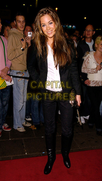 ROXANNE McKEE.The Sugababes new album launch & concert at the Dominion Thatre, London, UK..October 29th, 2006.Ref: CAN.full length jeans denim tucked into black boots jacket.www.capitalpictures.com.sales@capitalpictures.com.©Can Nguyen/Capital Pictures