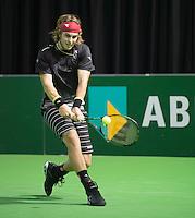 Rotterdam, Netherlands, 6 februari, 2016, ABNAMRO  <br /> Lukas Lacko  in actie tegen Lucas Pouille in eerste ronde kwalificaties