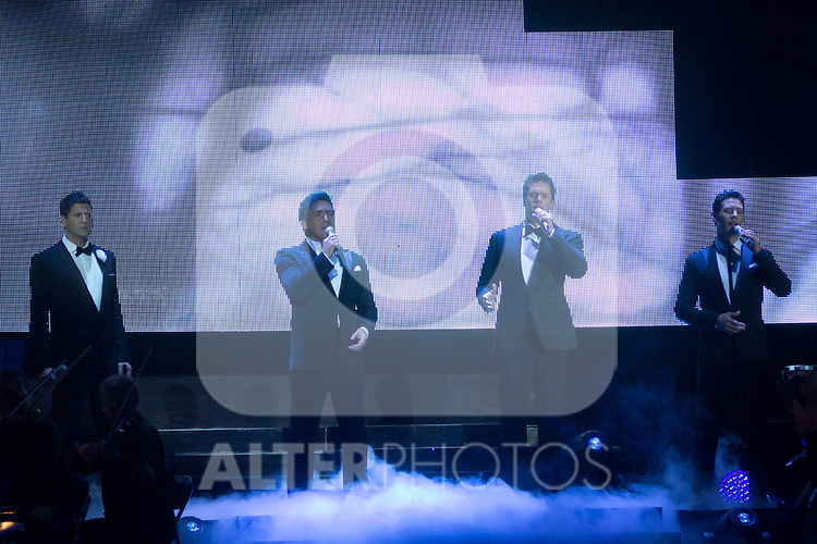 "28.04.2012. Il Divo concert at the Palacio de los Deportes in Madrid (Spain) with his last albun ""Wicked Game"". This opera-pop group is comprised of the Swiss Urs Bühler, Spanish Carlos Marin, French Sebastien Izambard and American David Miller. (ALTERPHOTOS)"