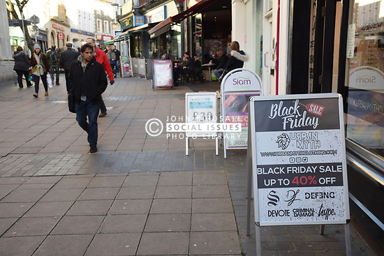 Black Friday, Norwich, 24 November 2017 UK