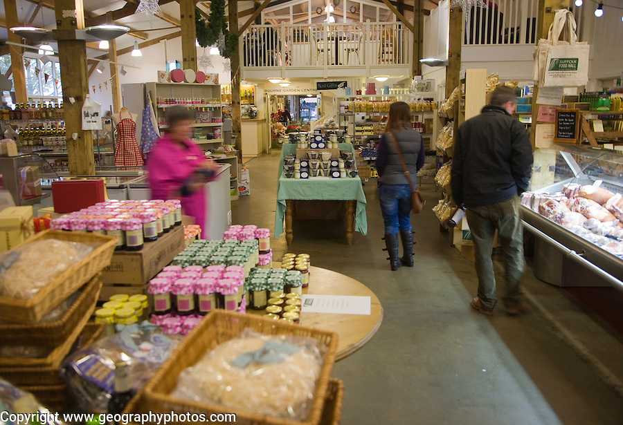 High quality food on display at Suffolk Food Hall, Wherstead, Suffolk, England
