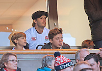 David Beckham takes his sons to a rugby match - London