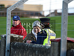 Gardaí take statments from witnesses at the scene at the Dundalk Young Irelands V St Brigid's JFC final after a St Brigid's Maor Uisce was assaulted. Photo:Colin Bell/pressphotos.ie