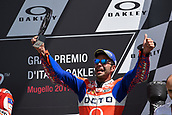 June 4th 2017, Mugello Circuit, Tuscany, Italy; MotoGP Grand Prix of Italy, Race day; 3rd placed Danilo Petrucci on podium