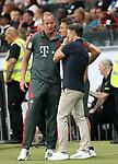 12.08.2018, Commerzbank - Arena, Frankfurt, GER, Supercup, Eintracht Frankfurt vs FC Bayern M&uuml;nchen , <br />DFL REGULATIONS PROHIBIT ANY USE OF PHOTOGRAPHS AS IMAGE SEQUENCES AND/OR QUASI-VIDEO.<br />im Bild<br />Dr. Jochen Hahne informiert Trainer Niko Kovac (M&uuml;nchen) und Co-Trainer Robert Kovac (M&uuml;nchen) &uuml;ber den Gesundheitszustand von David Alaba (M&uuml;nchen)<br /> <br /> Foto &copy; nordphoto / Bratic