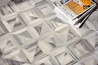 Newman, a natural stone waterjet mosaic shown in Horizon honed, is part of the Parquet Line by New Ravenna.