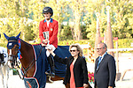 CSIO Barcelona 2018.<br /> Longines-Jumping Nations Cup-Barcelona 2018.<br /> Awards Ceremony.<br /> Jessica Springsteen.