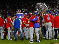 Celebraci&oacute;n de Puerto Rico campe&oacute;n de la Erie del caribe.<br />  Partido final de la Serie del Caribe en el nuevo Estadio de  los Tomateros en Culiacan, Mexico, Martes  7 Feb 2017. Foto: AP/Luis Gutierrez