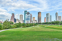 This is one of the many parks near downtown that also has a great view of the Houston skyline.  There are many hike and bike trails with fields for playing ball or start up a game of volley ball all with a wonderful cityscape with all the skyscraper high rise buildings in the city as a backdrop.  The Buffalo Bayou run along side of the trials throught out the park.