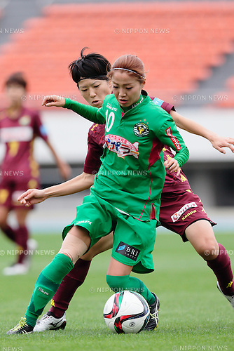 Natsuko Hara (Beleza), <br /> OCTOBER 31, 2015 - Football / Soccer : <br /> Plenus Nadeshiko League 2015 <br /> between NTV Beleza 2-0 Jef Chiba Ladies <br /> at Komazawa Olympic Park Stadium, Tokyo, Japan. <br /> (Photo by AFLO SPORT)