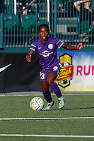 Rochester, NY - Saturday June 11, 2016: Orlando Pride forward Jasmyne Spencer (23) during a regular season National Women's Soccer League (NWSL) match between the Western New York Flash and the Orlando Pride at Rochester Rhinos Stadium.