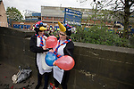 Two Crystal Palace fans dressed as penguins pictured outside Hillsborough before their team's crucial last-day relegation match against Sheffield Wednesday. The match ended in a 2-2 draw which meant Wednesday were relegated to League 1. Crystal Palace remained in the Championship despite having been deducted 10 points for entering administration during the season.