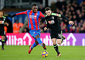 9th December 2017, Selhurst Park, London, England; EPL Premier League football, Crystal Palace versus Bournemouth; Lewis Cook of Bournemouth is fouled by Christian Benteke of Crystal Palace and awarded a free kick