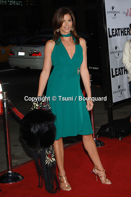 Cindy Crawford  @<br /> Leatherheads premiere at the Chinese Theatre In Los Angeles.<br /> <br /> full length<br /> smile