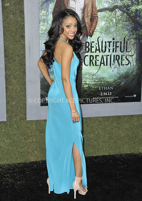 WWW.ACEPIXS.COM....February 6 2013, LA....Tiffany Boone arriving at the Los Angeles premiere of 'Beautiful Creatures' at TCL Chinese Theatre on February 6, 2013 in Hollywood, California.....By Line: Peter West/ACE Pictures......ACE Pictures, Inc...tel: 646 769 0430..Email: info@acepixs.com..www.acepixs.com