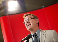 Berlin, der Spitzenkandidat der Linken in Thueringen Bodo Ramelow (Die Linke) am Montag (15.09.2014) im Karl-Liebknecht-Haus bei einer Pressekonferenz nach der Landtagswahl. Foto: Steffi Loos/CommonLens