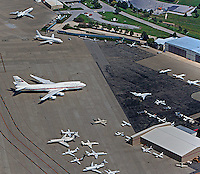 aerial photograph 747 Blue Grass Airport, LEX, Lexington, Kentucky