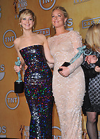 Jennifer Lawrence &amp; Elisabeth Rohm at the 20th Annual Screen Actors Guild Awards at the Shrine Auditorium.<br /> January 18, 2014  Los Angeles, CA<br /> Picture: Paul Smith / Featureflash