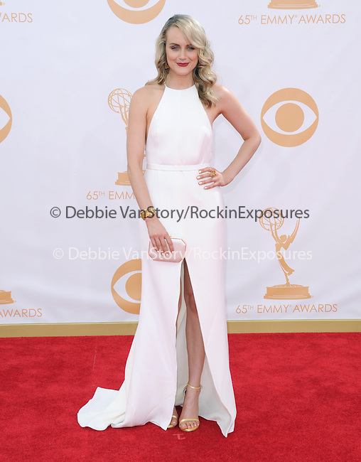 Taylor Schilling attends 65th Annual Primetime Emmy Awards - Arrivals held at The Nokia Theatre L.A. Live in Los Angeles, California on September 22,2012                                                                               © 2013 DVS / Hollywood Press Agency