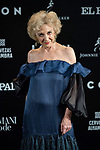 Marisa Paredes in the photocall before the ICON magazine awards ceremony<br /> October 9, 2019. <br /> (ALTERPHOTOS/David Jar)