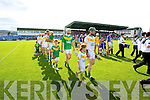 Lixnaw and Kilmoyley parade before he County Senior Hurling Final at Austin Stack Park Tralee on Sunday led by their captains Maurice Corridan Lixnaw and Seanie Murnane Kilmoyley.