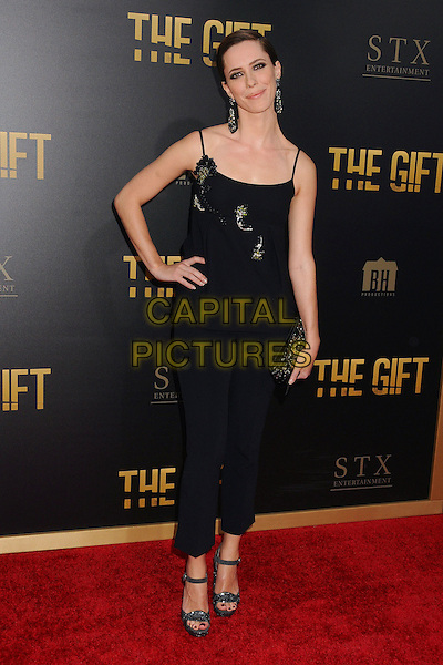 30 July 2015 - Los Angeles, California - Rebecca Hall. &quot;The Gift&quot; Los Angeles Premiere held at Regal Cinemas LA Live.  <br /> CAP/ADM/BP<br /> &copy;Byron Purvis/AdMedia/Capital Pictures