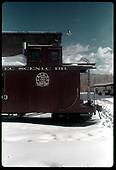 Caboose #0503 by engine house in Chama.<br /> C&amp;TS  Chama, NM