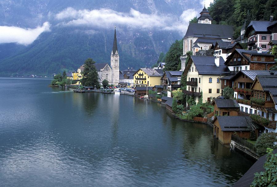 The village of Hallstatt, Austria