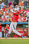 24 February 2019: St. Louis Cardinals infielder Matt Carpenter at bat during a Spring Training game against the Washington Nationals at Roger Dean Stadium in Jupiter, Florida. The Cardinals fell to the Nationals 12-2 in Grapefruit League play. Mandatory Credit: Ed Wolfstein Photo *** RAW (NEF) Image File Available ***