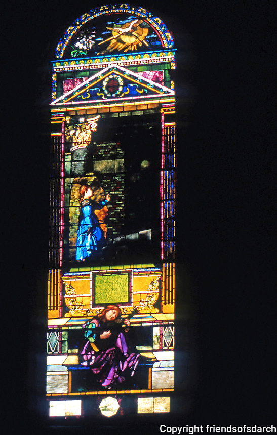 H. H. Richardson: Trinity Church--stained glass.
