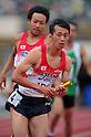 Kei Takase (JPN), JULY 10th, 2011 - Athletics : The 19th Asian Athletics Championships Hyogo/Kobe, Men's 4x400m Relay Final at Kobe Sports Park Stadium, Hyogo in Japan. (Photo by Jun Tsukida/AFLO SPORT) [0003].