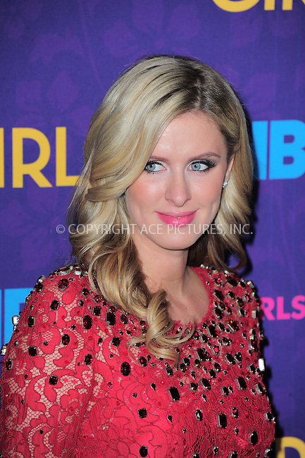 WWW.ACEPIXS.COM<br /> <br /> <br /> January 6, 2014, New York City, NY.<br /> <br /> <br /> Nicky Hilton arriving at the 'Girls' Season 3 Premiere at Jazz at Lincoln Center on January 6, 2014 in NEw York City, NY.<br /> <br /> <br /> <br /> <br /> By Line:  William Bernard/ACE Pictures<br /> <br /> ACE Pictures, Inc<br /> Tel: 646 769 0430<br /> Email: info@acepixs.com